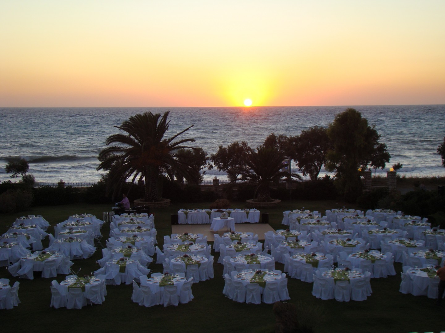 Wedding in greece at Irida Resort Suites sunset