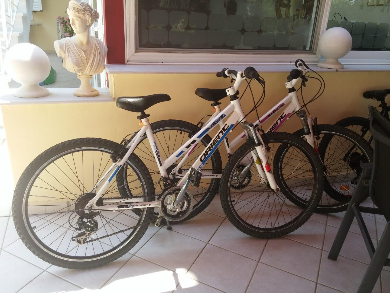 bikes at Irida Resort Suites