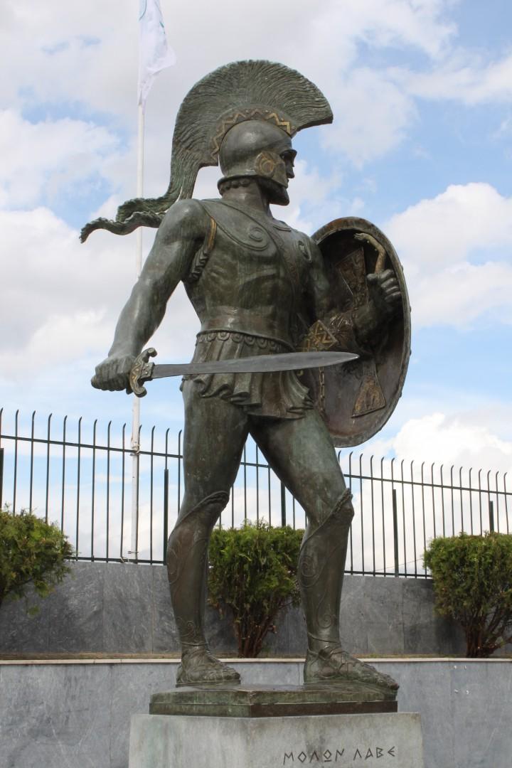 Sparta, Museum, King Leonidas statue,spartan