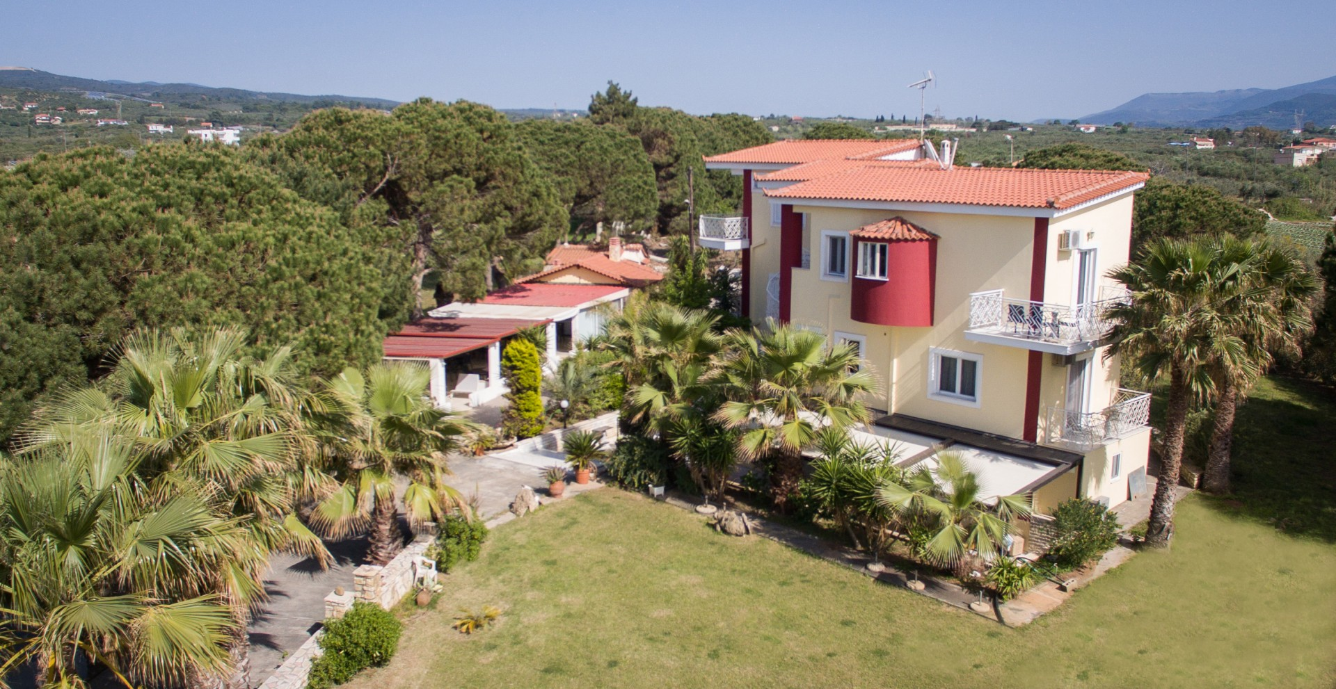 Aerial View of Irida Resort Suites